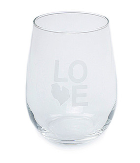 love michigan detroit stemless wine glass souvenir gift m22 unique state great lakes