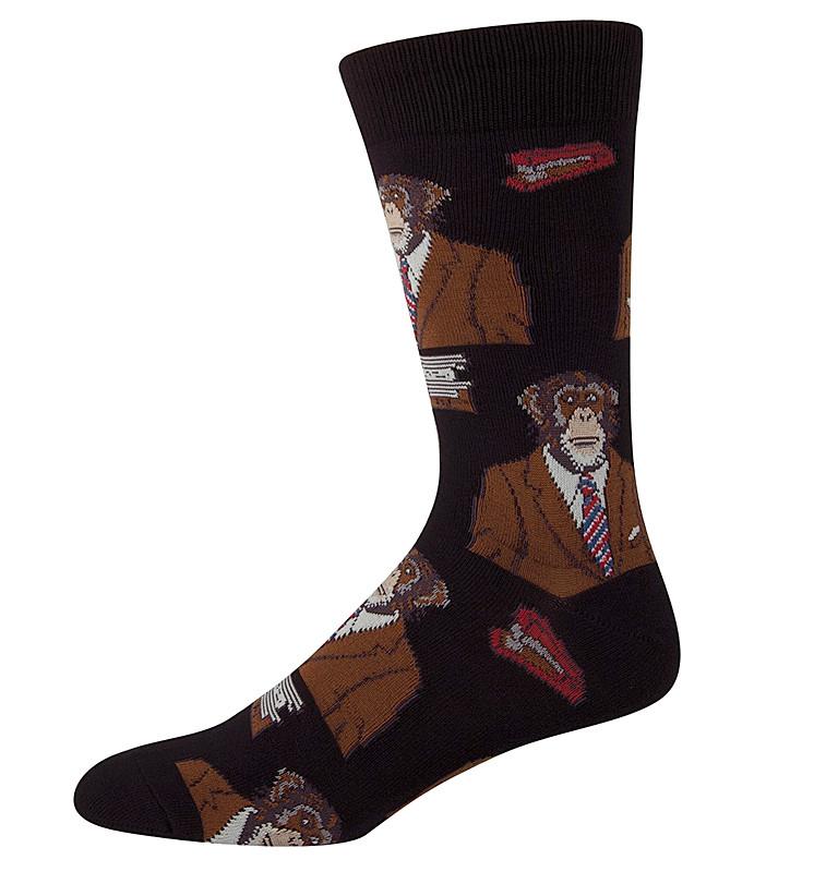 Monkey Biz Mens Socks |Monkey in Business Suit Socks, Funny Socks for Man,  Guy, Fathers Day Gift, Cool Monkey Socks| Catching Fireflies