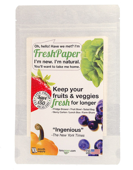 freshpaper eco environmentally friendly fruit veggie vegetable fresh biodegradable recyclable compostable keep food fresh naturally unique kitchen gift for person that has everything mom mother friend wedding shower bridal