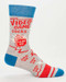 mens video game socks novelty blue red crew stocking stuffer gamer dad boyrfriend husband guy gift