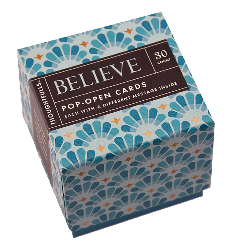 Believe Pop Open Cards Set Mini Inspirational Cards Gift For Mom