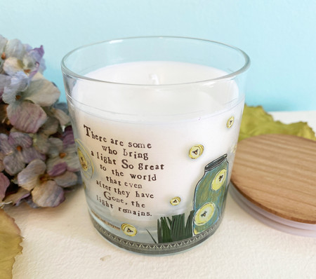 There are some who bring a light so great to the world that even after they have gone the light remains glass jar candle inspirational grievance gift remembrance of loved one loss unique