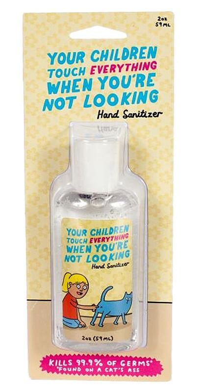 cute funny hilarious hand sanitizer mom purse handbag portable blue q