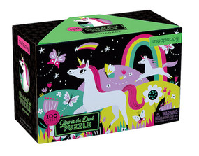 unicorn glow in dark puzzle great gift stocking stuffer young little girl whimsical