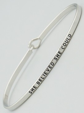 she believed she could thin bangle