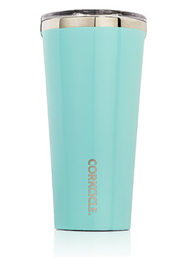 turquoise blue corkcicle stainless steel beverage tumbler great gift guy dad mom sister girlfriend on the go travel mug vacuum seal triple insulated
