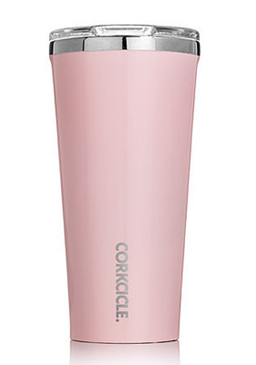 rose quartz pink unique stainless steel travel mug tumbler stocking stuffer mom girlfriend wife daughter keeps drinks beverages hot cold longer corkcicle