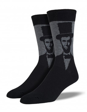 abraham lincoln president political socks men guys funny humorous stocking stuffer gift for history buff unique
