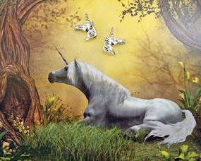 unicorn stud earrings cute fashion accessory stocking stuffer girls teen girlfriend gift whimsical fantasy  horse