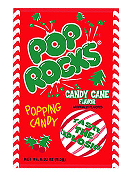 candy cane mint flavor pop rocks holiday limited edition stocking stuffer kids little boys girls throwback retro hard to find