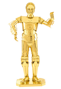 star wars character c3po metal earth 3d model kit three dimensional great gift stocking stuffer for guys men teen brother dad memorabilia fathers day