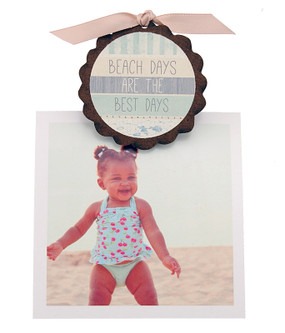 beach days are the best days vacation pic photo clip fridge magnet whimsical quote saying sentiment magnetic inspirational