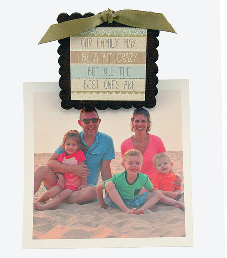 our family may be a bit crazy but all the best ones are pic photo clip fridge magnet whimsical quote saying sentiment magnetic inspirational