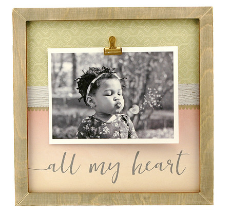 all my heart rustic large clip frame valentines day anniversary wedding kids handmade baby shower gift little boy girl mom mothers day