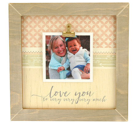 love you so very very much rustic clip frame whimsical valentines day gift mothers day mom birthday kids handmade usa custom personalized