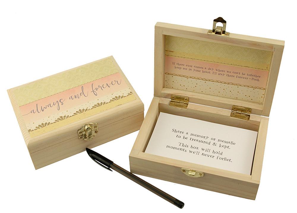Always And Forever Memory Box Unique Keepsake Box Wedding