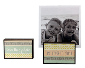 love this photo frame my favorite people block whimsical gift reversible quote sentiment holds multiple photos