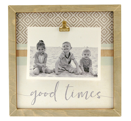 good times rustic large clip frame handmade baby shower gift little boy girl mom mothers day vacation travel