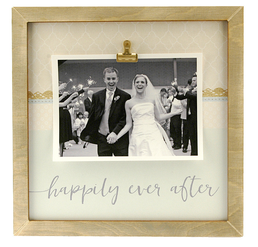 Happily Ever After Large Rustic Clip Frame Personalized Frame