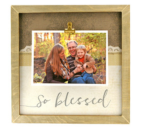 so blessed rustic large clip frame  mom gift mothers day fathers day family whimsical instagram custom personalized