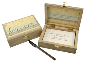 forever in our hearts memory keepsake box loved one memorial sentimental inspirational