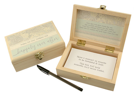 happily ever after memory keepsake box engagement wedding shower bridal gift sentimental inspirational