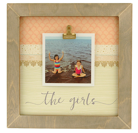 the girls rustic clip frame whimsical valentines day gift mothers day mom birthday kids handmade usa custom personalized family