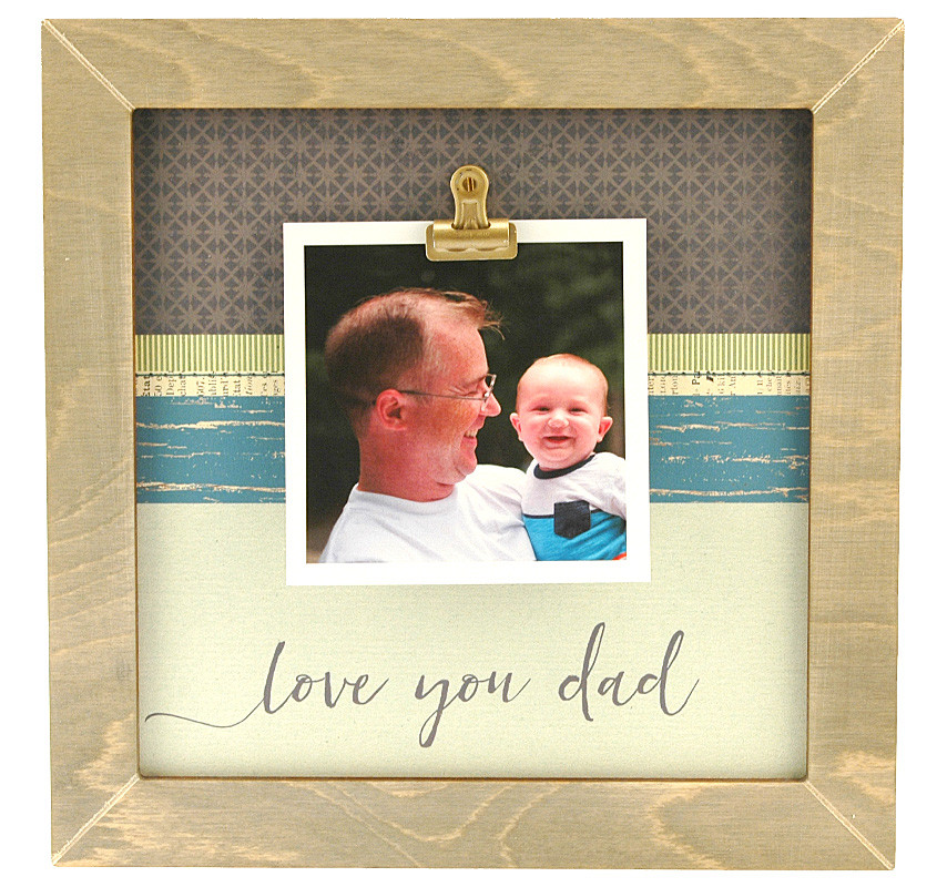 Love You Dad Medium Rustic Clip Frame Personalized Frame