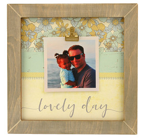lovely day rustic clip frame whimsical valentines day gift mothers day mom birthday kids handmade usa custom personalized family  wedding engagement graduation special occasion