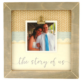 the story of us rustic clip frame whimsical valentines day gift handmade usa custom personalized family  wedding engagement boyfriend girlfriend husband wife couple instagram