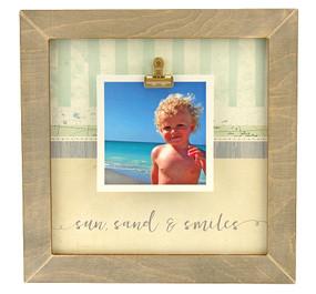 sun sand smiles rustic clip frame whimsical beach coastal handmade usa custom personalized family  summertime vacation instagram