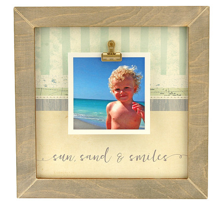sun sand smiles rustic clip frame whimsical beach coastal handmade usa custom personalized family  summertime vacation instagram