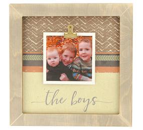 the boys rustic clip frame whimsical valentines day gift mothers day mom birthday kids handmade usa custom personalized family grandkids grandchildren
