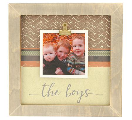 The Boys Medium Rustic Clip Frame Personalized Frame Instagram