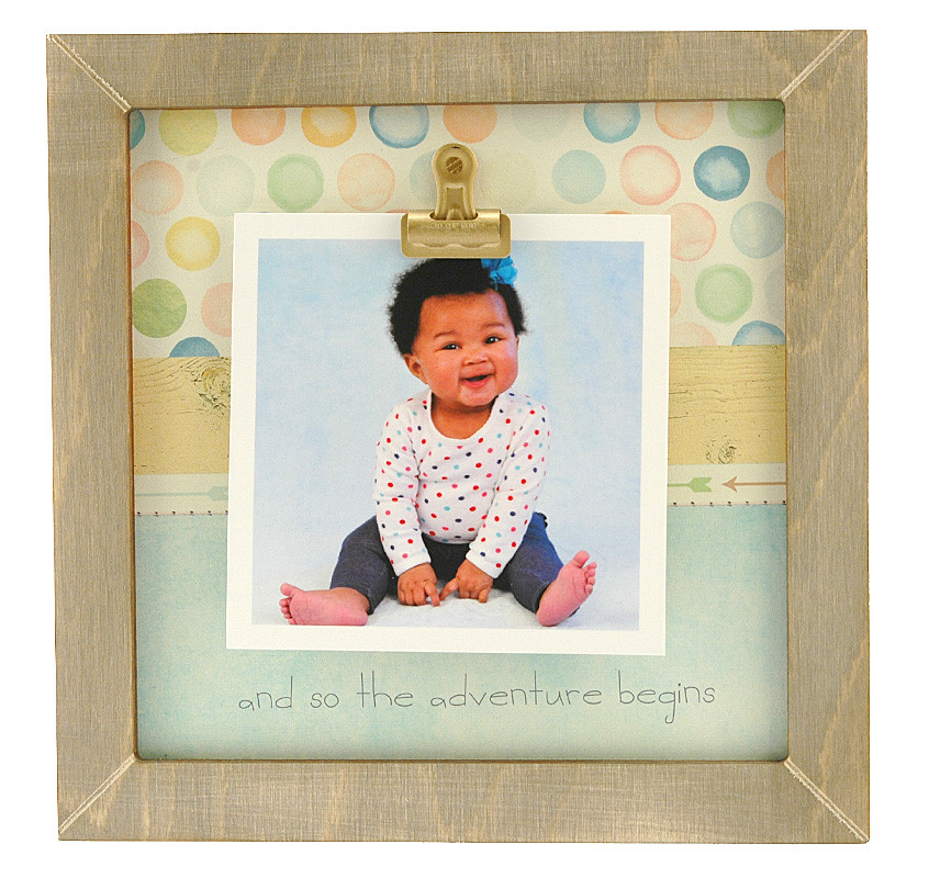 And So The Adventure Begins Small Rustic Clip Frame | Personalized ...