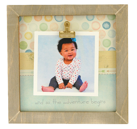 and so the adventure begins rustic clip frame whimsical mothers day gift handmade usa custom personalized baby kids little boy girl toddler instagram photo