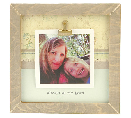 always in my heart small rustic clip frame personalized frame