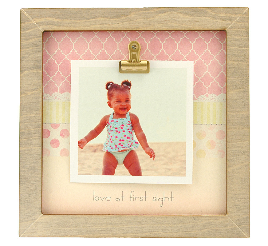 Love At First Sight Small Rustic Clip Frame Personalized Frame