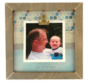 our little man rustic clip frame whimsical mothers day gift handmade usa custom personalized baby kids little boy  toddler instagram photo mothers day gift ultrasound sonogram