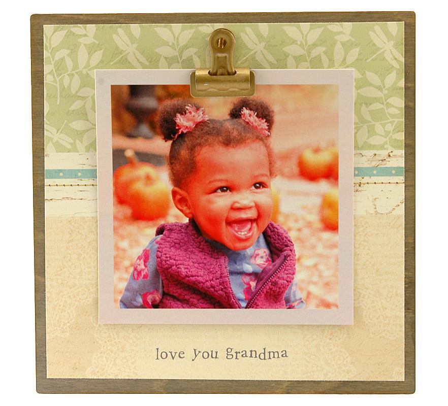 Love You Grandma Rustic Clip Frame Personalized Frame Instagram