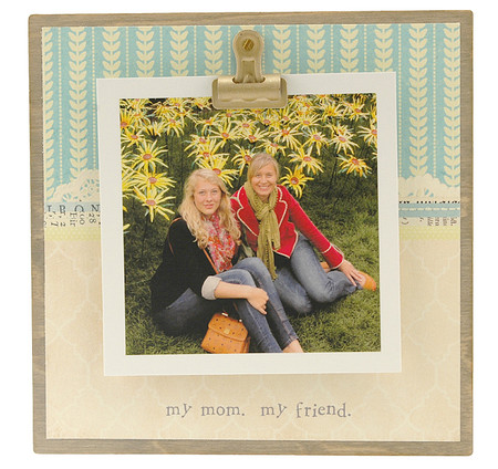 my mom my friend rustic clip frame whimsical mothers day gift handmade usa custom personalized instagram