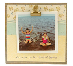 sisters are best kind of  friends rustic clip frame whimsical mothers day gift handmade usa custom personalized instagram