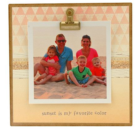 sunset is my favorite color rustic clip frame whimsical mothers day gift handmade usa custom personalized baby kids little boy girl toddler instagram photo vacation beach summer family