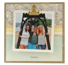 besties rustic clip frame whimsical mothers day gift handmade usa custom personalized instagram best friend bff girlfriend teen