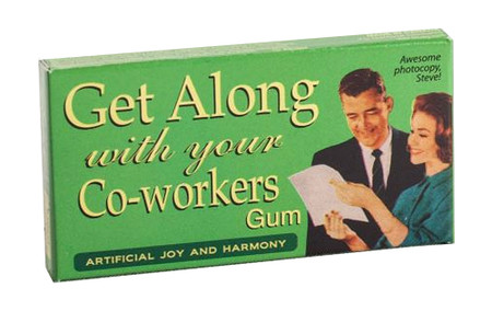 get along with coworkers gum funny humorous office gift whimsical cute hilarious