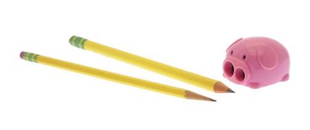 pig piggy pencil sharpener cute office school supply kids whimsical farm animal pink stocking stuffer easter basket goodies