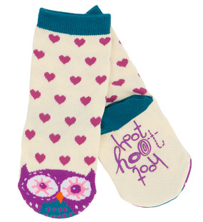 kids animal hoot owl socks blue purple pink stocking stuffer little girl non skid sole warm easter goodies