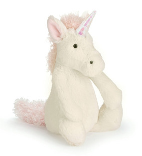 jellycat unicorn medium bashful plush stuffed toy silky gift little girl magical birthday cute