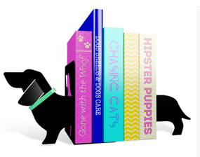 really long sausage dog bookends cute home office decor whimsical puppy weiner dog funny gift for co worker