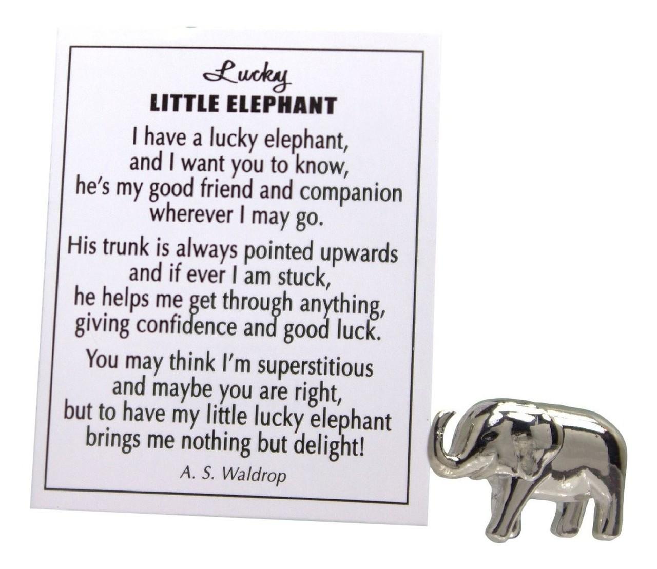 lucky little elephant charm